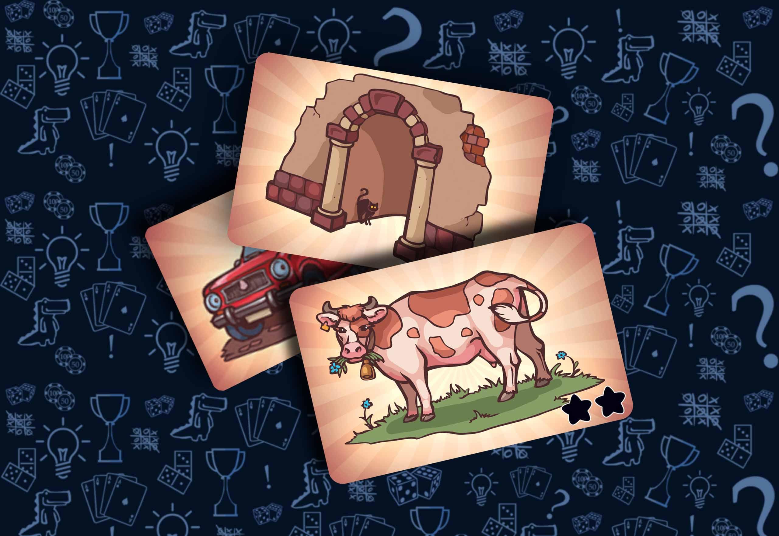 Карточки картинок Настольная игра «Соображарий картинки»