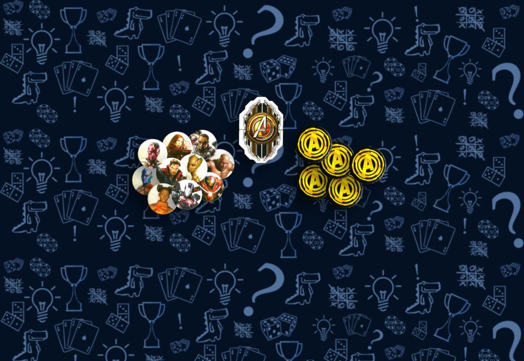 Жетоны в настольной игре «Мстители: Война Бесконечности»