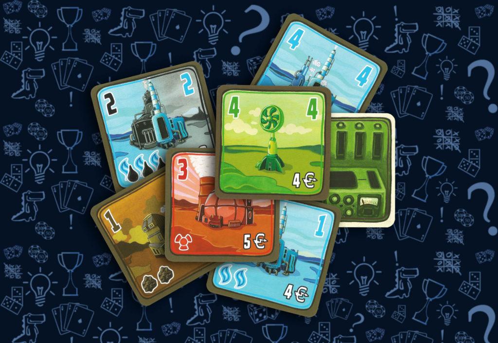 Карточки электростанций настольная игра «Энергосеть» (rolethedice.ru Бросьте Кости)