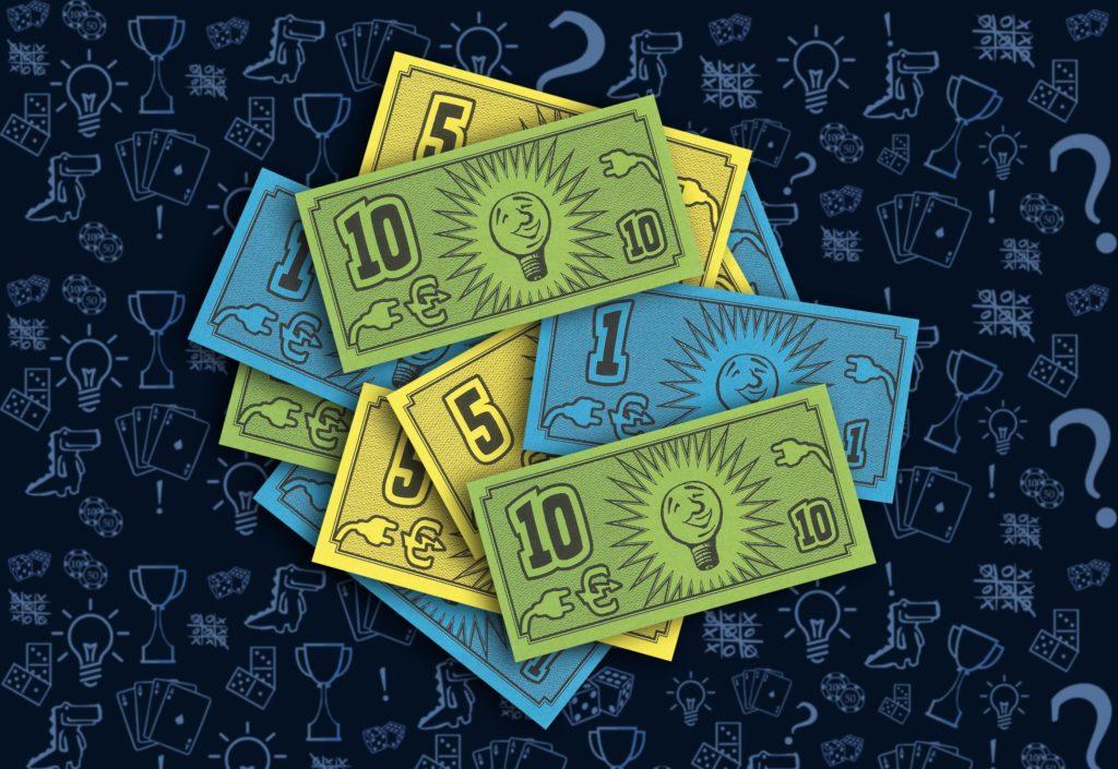 Бумажные деньги (Электро) настольная игра «Энергосеть» (rolethedice.ru Бросьте Кости)
