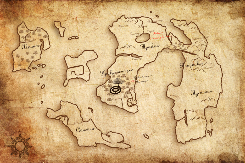 Карта для своей ролевой настольной игры. (rolethedice.ru Бросьте Кости)