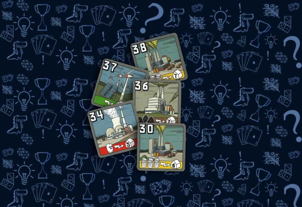 Карточки электростанций  настольная игра Энергосеть новая редакция (rolethedice.ru Бросьте Кости)