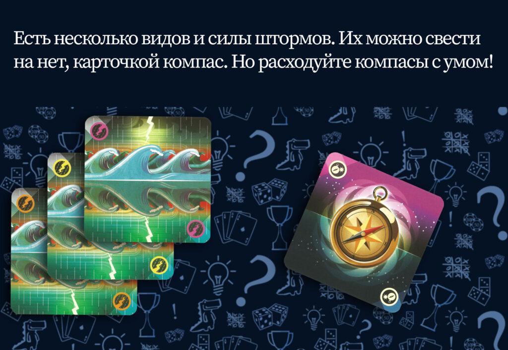 Карточки компасов и штормов настольная игра Штиль (rolethedice.ru Бросьте Кости)